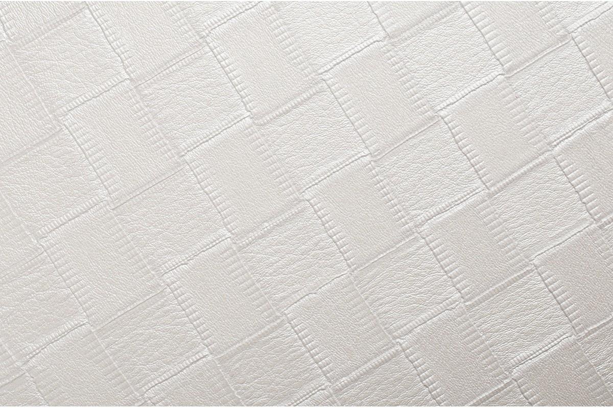 Самоклеящаяся виниловая пленка Coverstyl X10 - Белaя кожа в квадратики