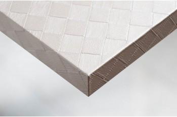 Tекстурированные и легко формирующаяся самоклеющиеся виниловые покрытия для стен и мебели c отделкой-Белaя кожа в квадратики